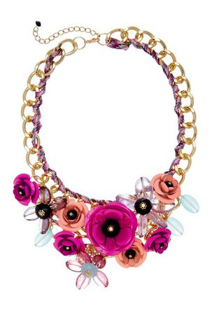 Eye Candy Los Angeles   Posh Floral Cluster Chain Bib Necklace   Nordstrom Rack