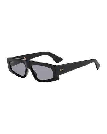 Dior DiorPower Rectangle Acetate Sunglasses | Neiman Marcus