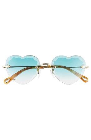 Chloé Rosie 55mm Heart Shaped Sunglasses | Nordstrom