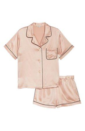 Morgan Lane Katelyn Fiona Silk Short Pajamas | Nordstrom