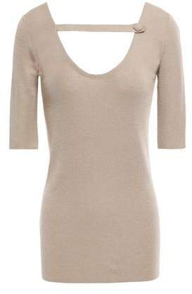 Cutout Cashmere And Silk-blend Top