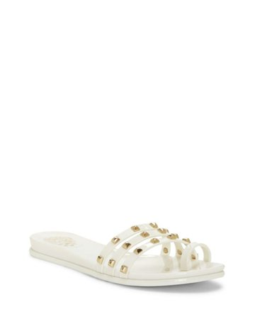 Vince Camuto Elishenta Studded Slide | Designer Shoes, Handbags, Clothing & Perfume - Vince Camuto