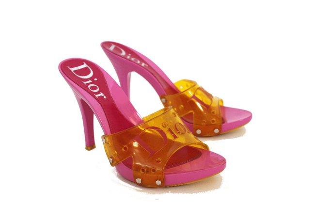 vintage hot pink dior heels