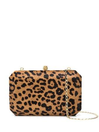 Tyler Ellis Lily Leopard Print Clutch Bag Aw19 | Farfetch.Com