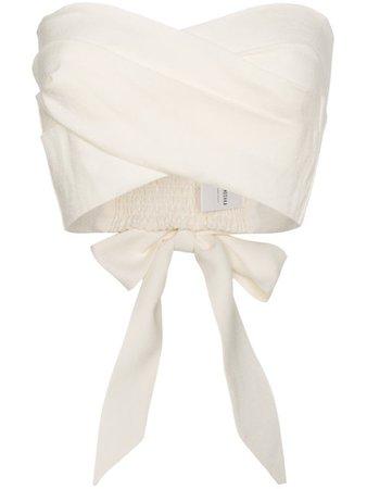 Nanushka Wrap Crop Top With Bow Detail - Farfetch