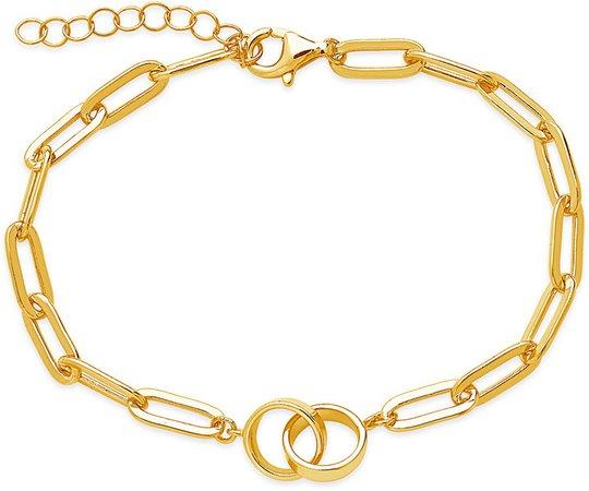Interlocking Circles Chain Link Bracelet
