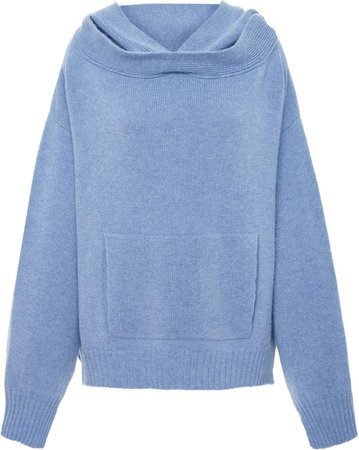 Oversized Wool And Cashmere-Blend Hooded Sweatshirt