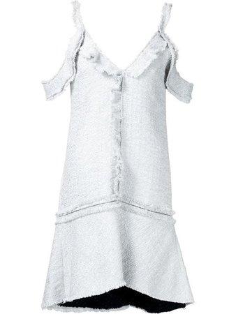 PROENZA SCHOULER Off-Shoulder Tweed Dress.