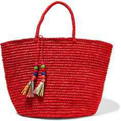 red straw beach totes - Google Search