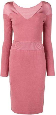 Pre-Owned v-neck knit dress