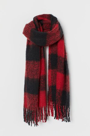 Woven Scarf - Red
