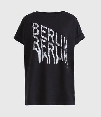 ALLSAINTS US: Womens Berlin Imogen Boy T-Shirt (black)