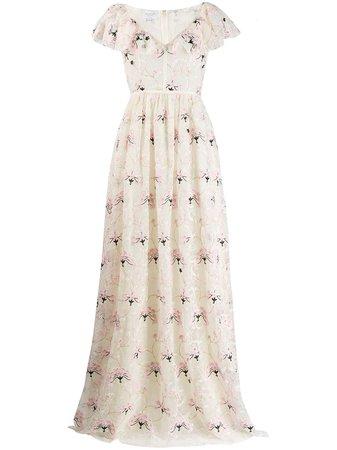 Giambattista Valli floral print lace gown - FARFETCH