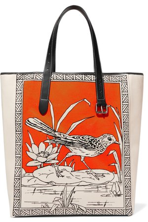 JW Anderson | Leather-trimmed printed canvas tote | NET-A-PORTER.COM