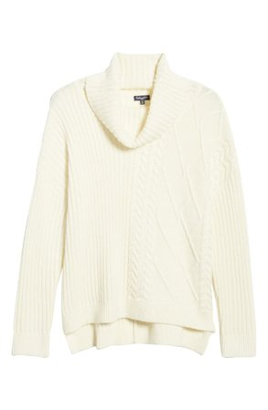 Splendid Lakewood Cable Knit Cowl Neck Sweater | Nordstrom