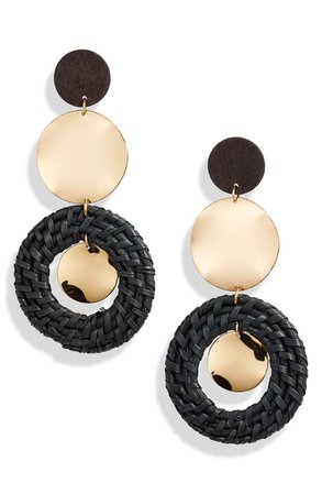 Ettika Raffia Ring Earrings | Nordstrom