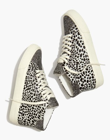 Sidewalk High-Top Sneakers in Spot Mix Suede