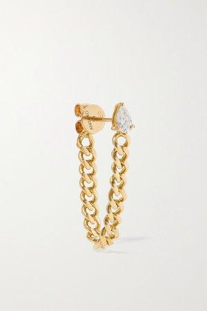 Gold 18-karat gold diamond earring | Anita Ko | NET-A-PORTER