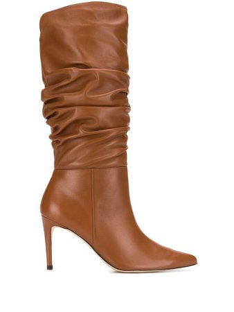 Alexandre Birman Ruched Leather Boots - Farfetch