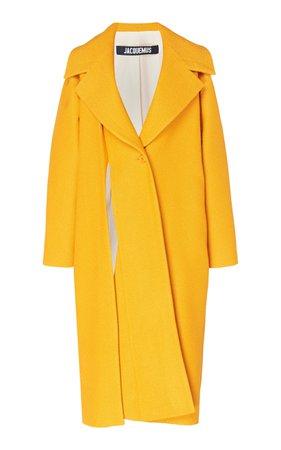 Jacquemus Spliced Cotton and Linen-Blend Coat