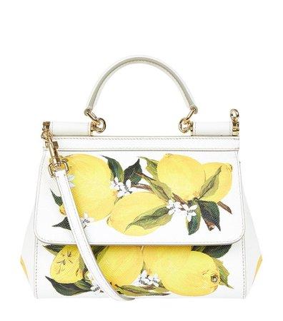 D&G Yellow Small Sicily Lemon Top Handle Bag
