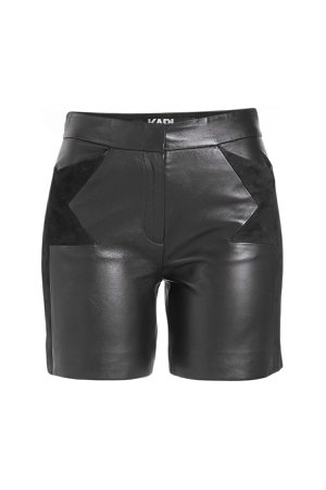 Leather Shorts with Suede Gr. IT 38
