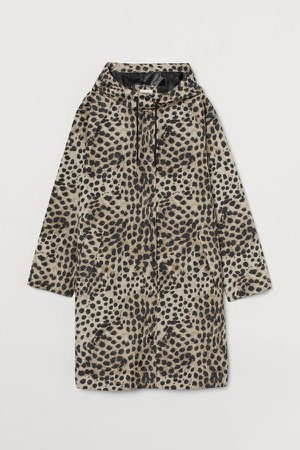 Hooded Raincoat - Beige