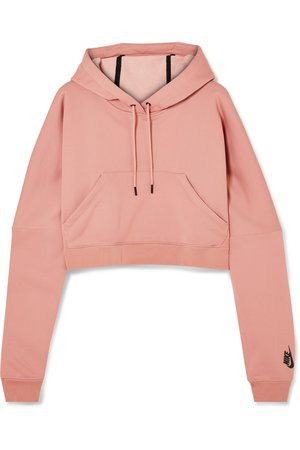 Nike   NikeLab cropped cotton-blend jersey hooded top   NET-A-PORTER.COM