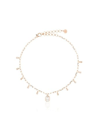 Shay 18Kt Rose Gold And Diamond Drop Necklace | Farfetch.com