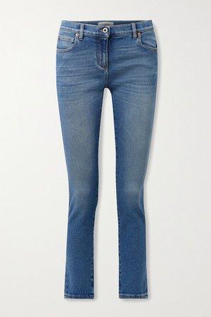 Mid-rise Skinny Jeans - Mid denim