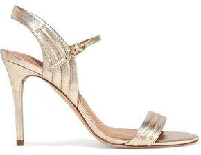 Tricia Quilted Metallic Leather Sandals