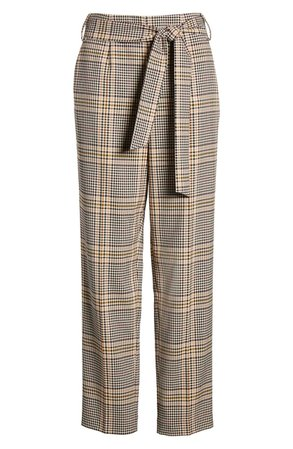 1.STATE Tie Waist Plaid Crop Pants | Nordstrom