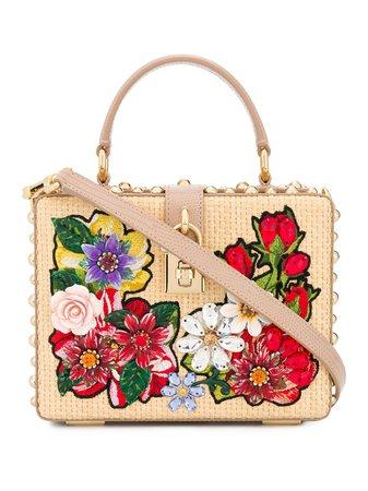 Dolce & Gabbana Bolso Shopper Con Aplique Floral - Farfetch