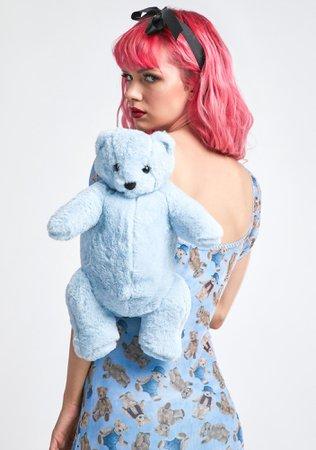 Delia's Teddy Bear Backpack - Blue | Dolls Kill