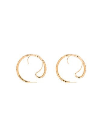 Panconesi Upside Down Crystal Hoop Earrings - Farfetch