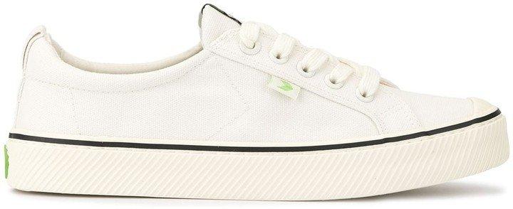 OCA Low Stripe White Canvas Sneaker