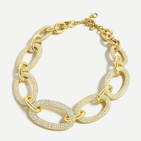 J.Crew: Pavé Link Necklace For Women