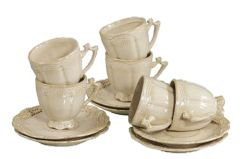 White tea cups