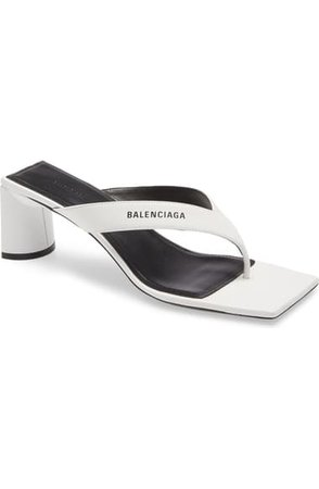 Balenciaga Square Toe Thong Sandal (Women)   Nordstrom