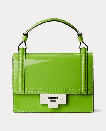 Ralph Lauren Patent Mini Hinge-Lock Bag