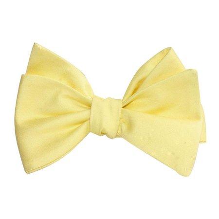 Pastel Yellow Cotton Bow  ☁️🌙💛