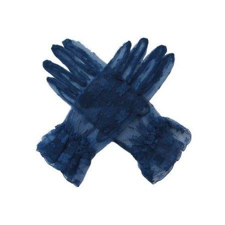 SACAS Navy Dark Blue Lace Gloves