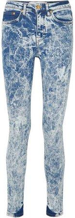Victoria, High-rise Skinny Jeans - Blue
