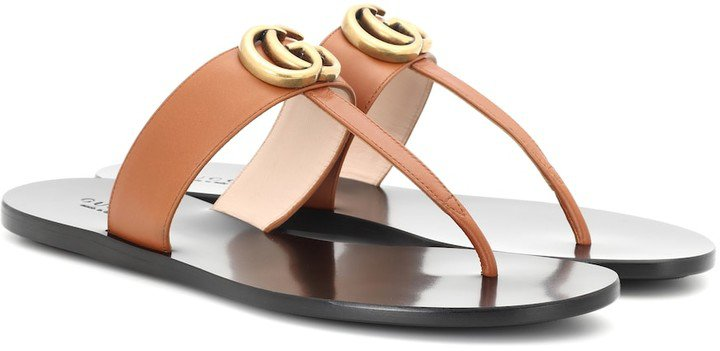 Marmont leather thong sandals