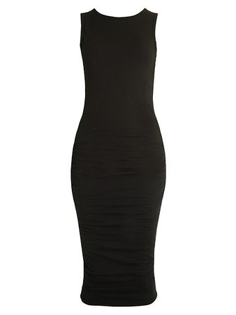 James Perse Open Back Skinny Dress on SALE | Saks OFF 5TH