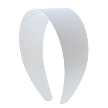 Amazon.com: White 2 Inch Hard Plastic Headband with Teeth Women and Girls wide Hair band (Motique Accessories): Beauty