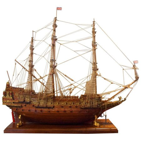"""Ship Model """"Sovereign of the Seas """" a 17th-century warship of the English Navy For Sale at 1stdibs"""