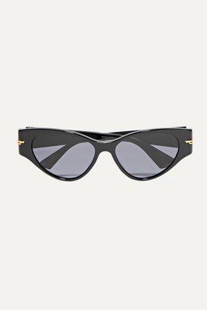 Black Cat-eye acetate sunglasses | Bottega Veneta | NET-A-PORTER
