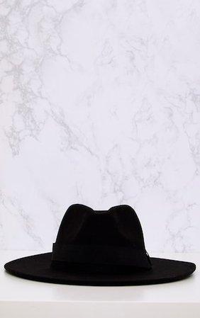 Basic Black Fedora Hat   Accessories   PrettyLittleThing