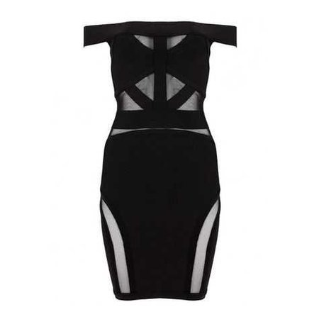 Kasey Black Mesh Bandage Dress